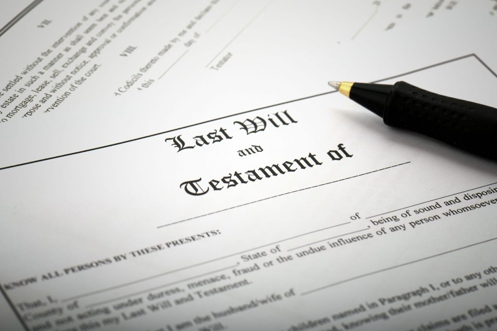 a will and testament