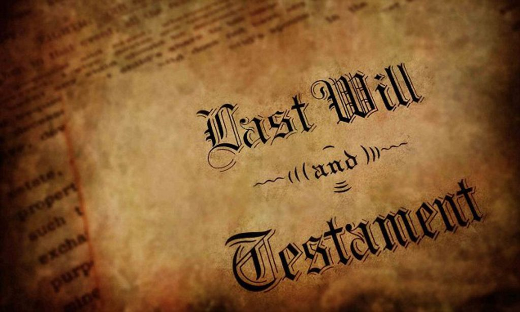 Old Will and Testament - Secret Trust