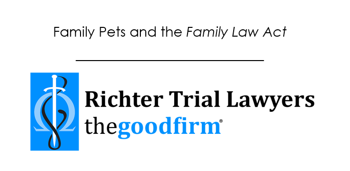 Family Pets and he Family Law Act